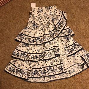 Sandro Long Ruffled Skirt Size 0